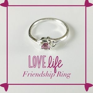 PassionKids Accessories - Purple Silver plated CZ Crystal  Ring